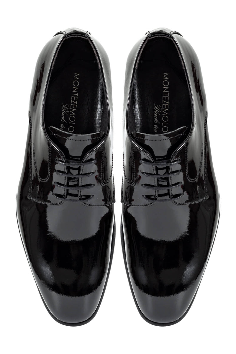 MONTEZEMOLO - Lace Up Shoes - Black Patent Leather Shoe - MONTEZEMOLO