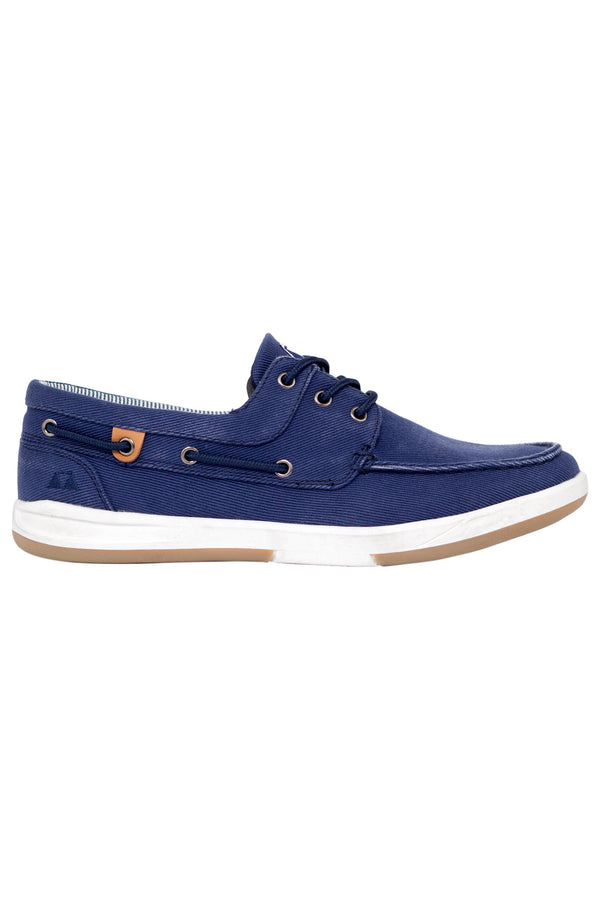 MONTEZEMOLO Men's Clothing - Loafers - Canvas Boat Shoe - www.montezemolostore.com