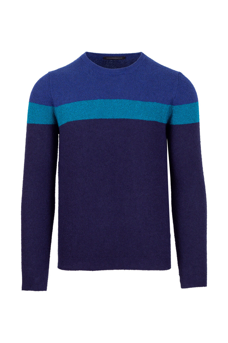 MONTEZEMOLO Men's Clothing - Knitwear - Boucle' Cotton Blend Crewneck - www.montezemolostore.com