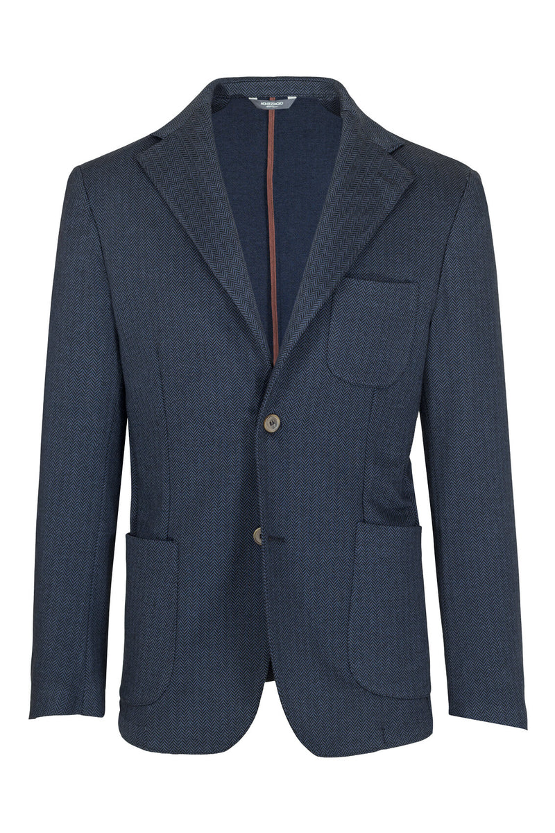 MONTEZEMOLO Men's Clothing - Jackets - Herringbone Jersey Cotton Jacket - www.montezemolostore.com