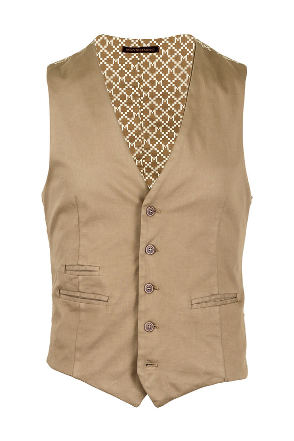 MONTEZEMOLO Men's Clothing - Vests - Cotton Waistcoat - www.montezemolostore.com
