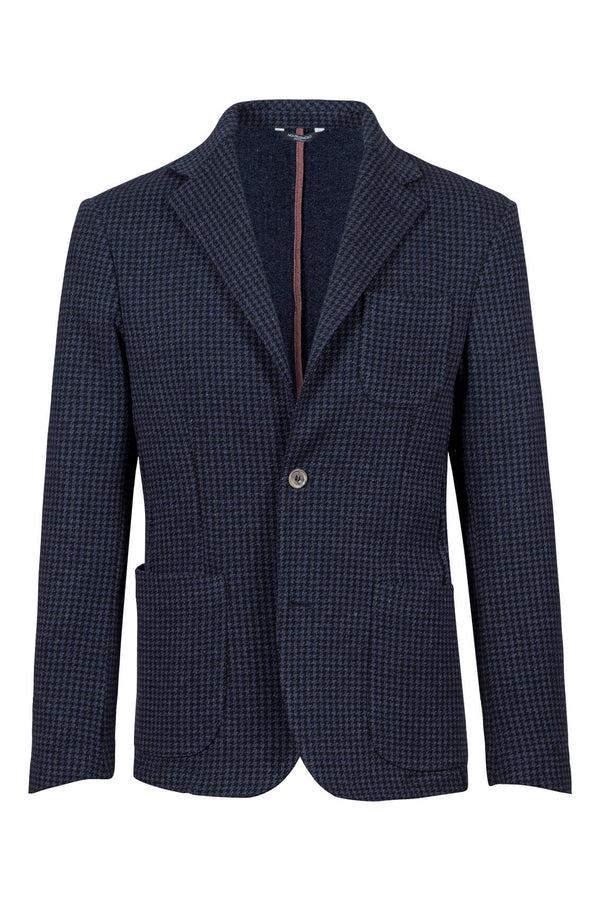 MONTEZEMOLO Men's Clothing - Jackets - Pied-de-Poule Cotton Blend Jacket - www.montezemolostore.com