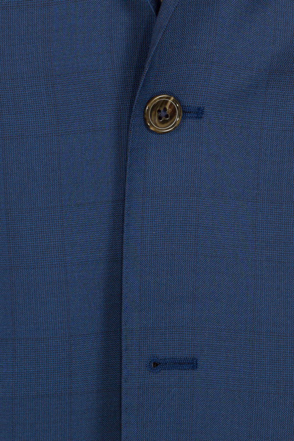 MONTEZEMOLO Men's Clothing - Suits - Blue Prince-of-Wales Loro Piana Fabric Suit - www.montezemolostore.com