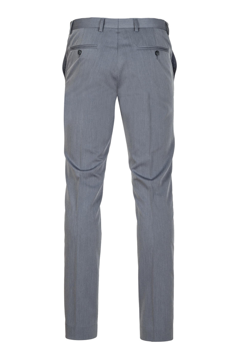 MONTEZEMOLO - Trousers - Grey Tecno-Silk Trousers - MONTEZEMOLO