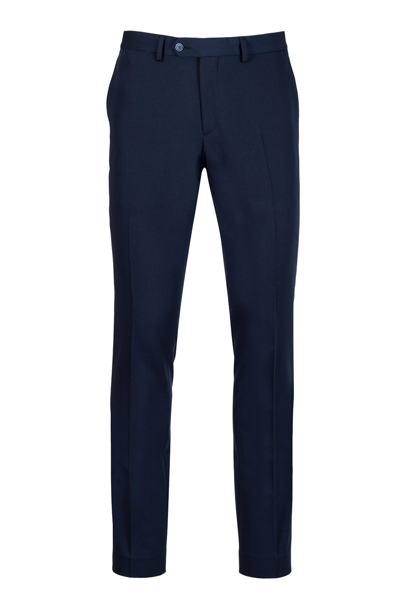MONTEZEMOLO Men's Clothing - Trousers - Blue Tecno-Silk Trousers - www.montezemolostore.com