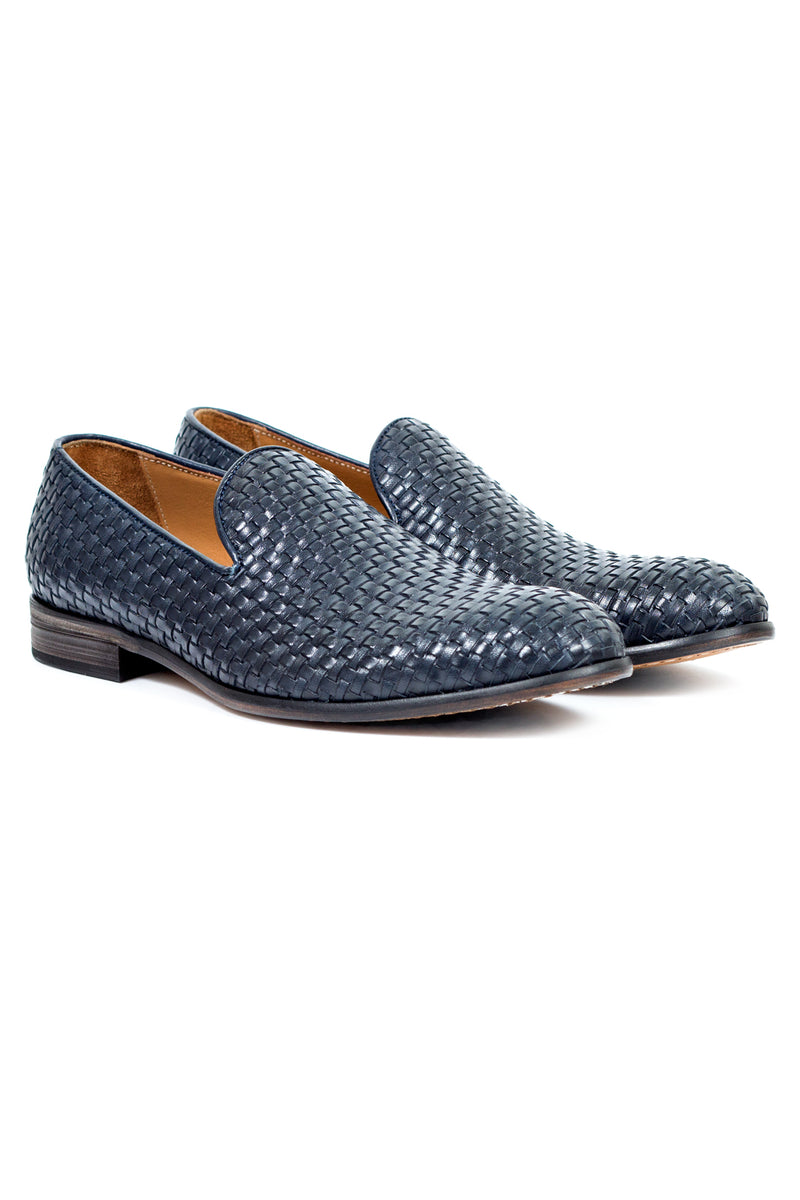 MONTEZEMOLO - Loafers - Intrecciato Leather Loafers - MONTEZEMOLO