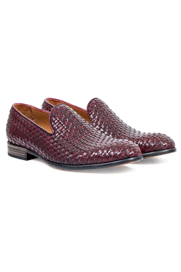 Intrecciato Leather Loafers