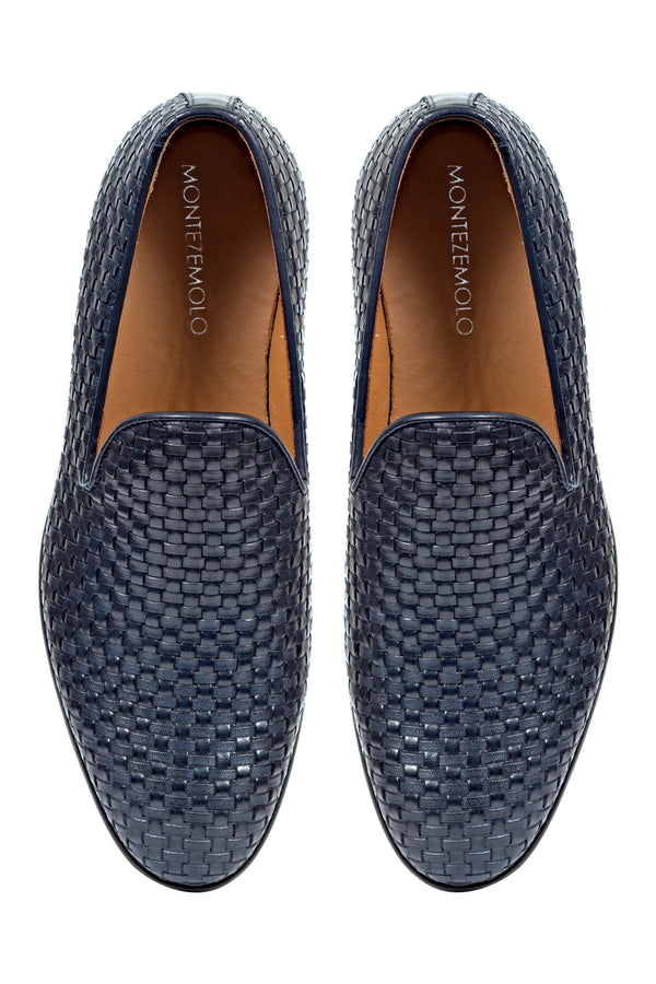 MONTEZEMOLO Men's Clothing - Loafers - Intrecciato Leather Loafers - www.montezemolostore.com