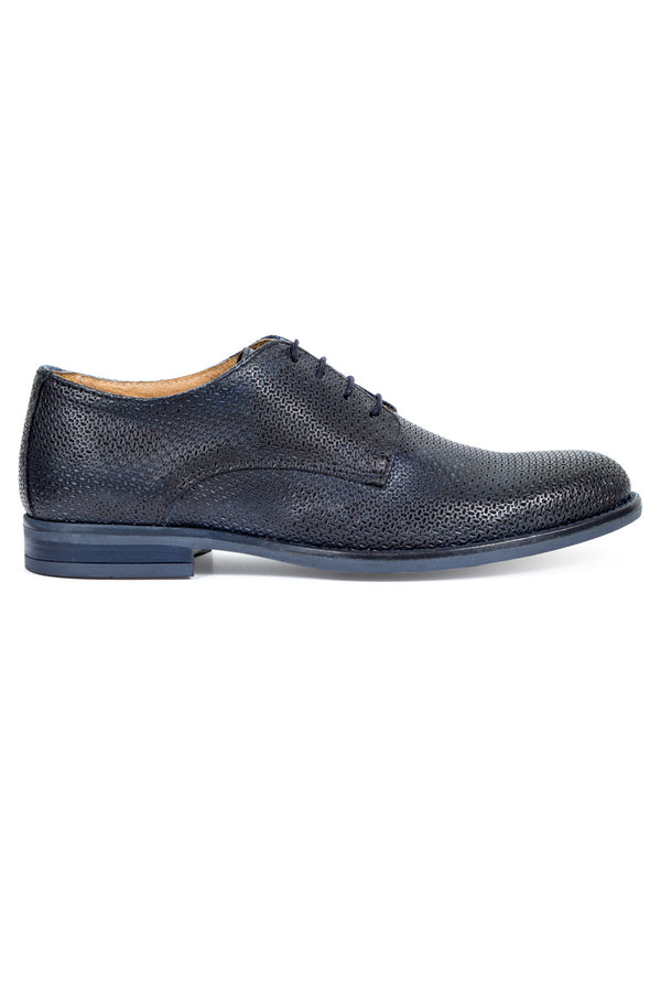 Laser Textured Leather Derby