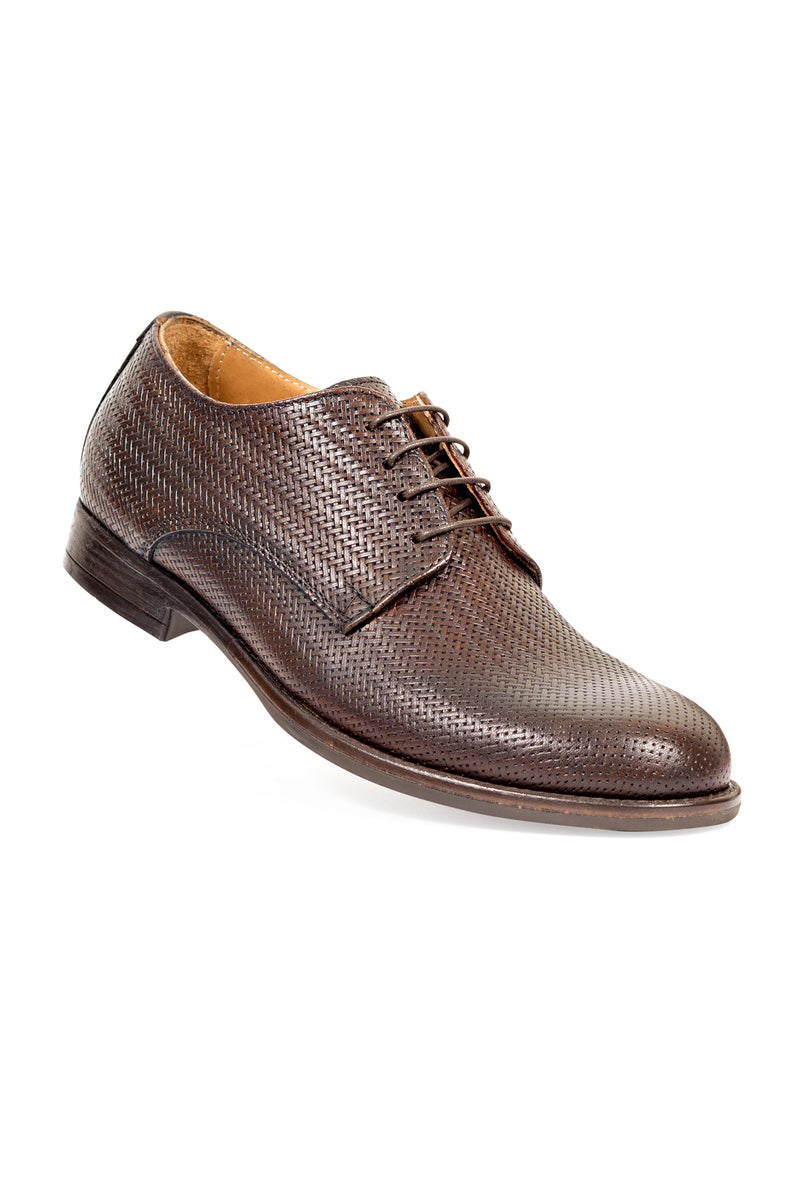 MONTEZEMOLO Men's Clothing - Lace Up Shoes - Textured Leather Derby - www.montezemolostore.com