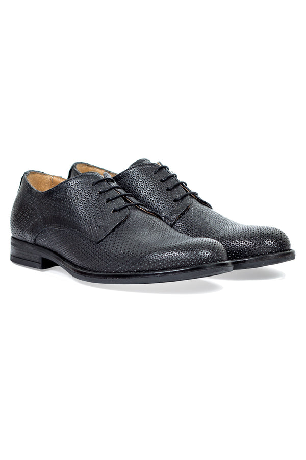 MONTEZEMOLO - Lace Up Shoes - Laser Textured Leather Derby - MONTEZEMOLO