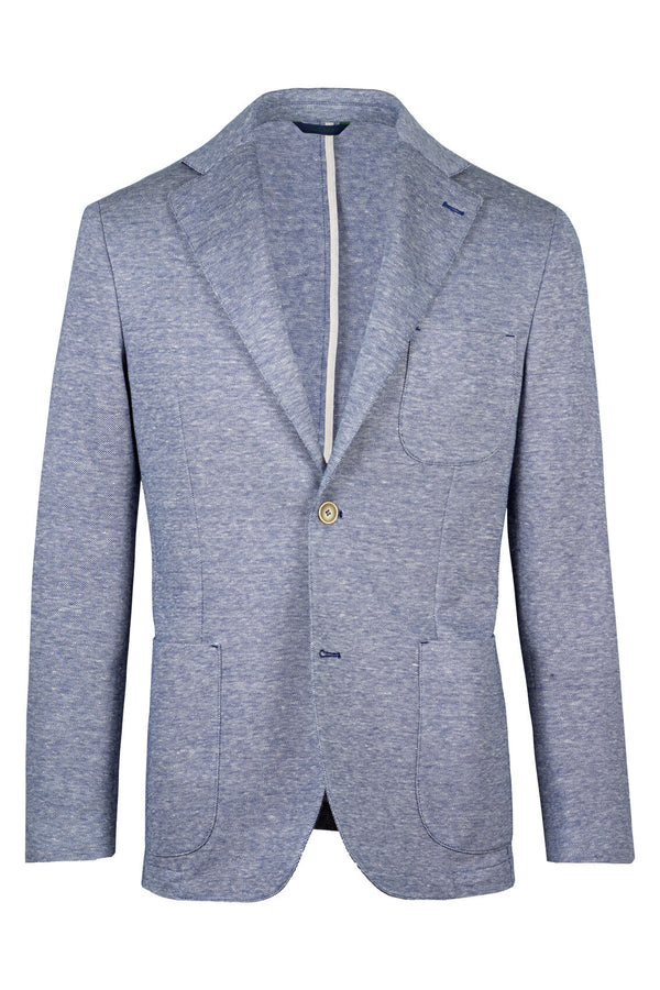 MONTEZEMOLO Men's Clothing - Jackets - Jersey Piquet Linen & Cotton Jacket - www.montezemolostore.com