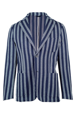 MONTEZEMOLO Men's Clothing - Jackets - Striped Giro Inglese Weave Cotton Jacket - www.montezemolostore.com