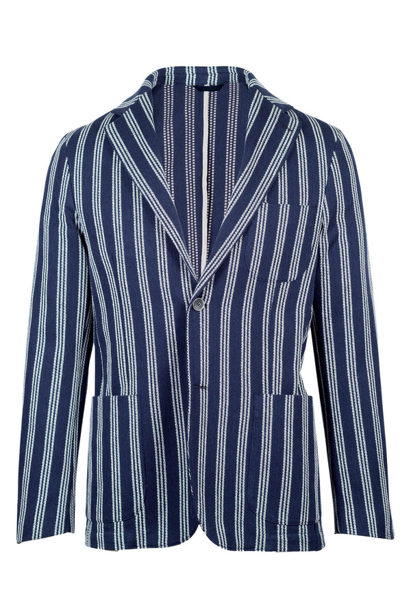 Striped Giro Inglese Weave Cotton Jacket