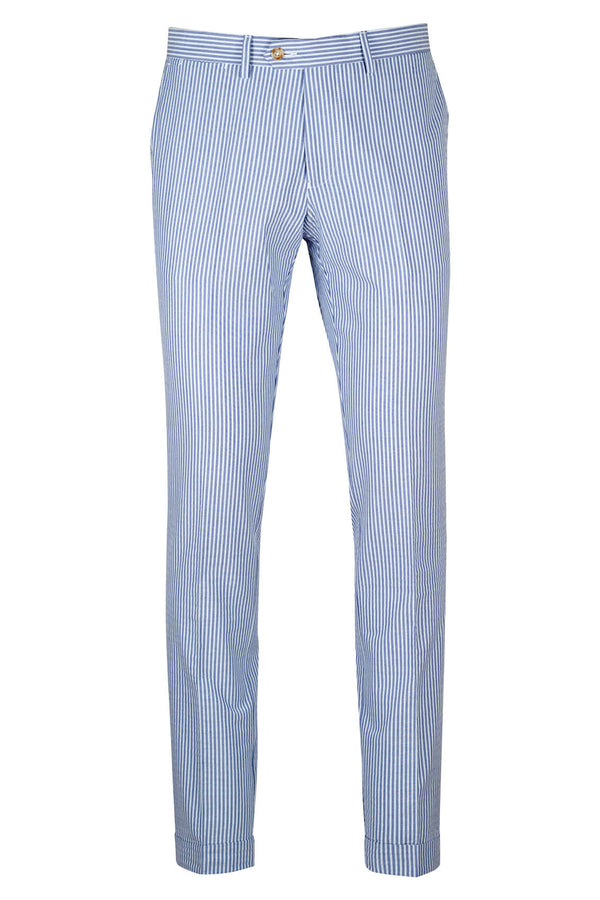 MONTEZEMOLO Men's Clothing - Trousers - Seersucker Trousers - www.montezemolostore.com