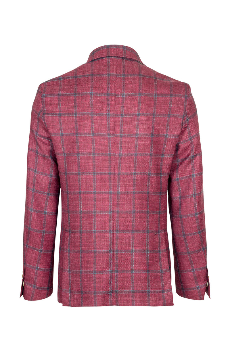 Wool Silk & Linen Check Jacket