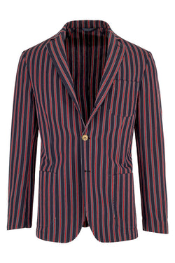Striped Cotton and Linen Jacket