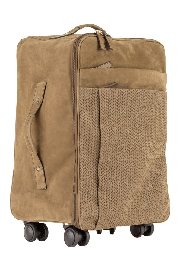 MONTEZEMOLO Men's Clothing - Bag - Intrecciato Nubuck Trolley - www.montezemolostore.com