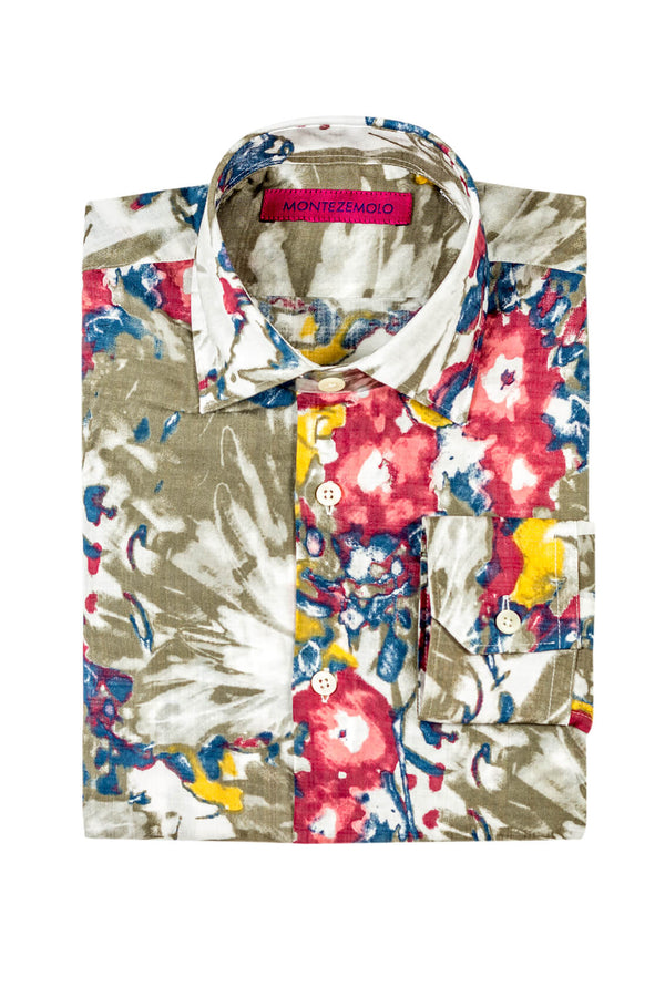 MONTEZEMOLO - Shirts - Allover Floral Printed Cotton Shirt - MONTEZEMOLO