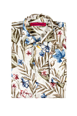 MONTEZEMOLO Men's Clothing - Shirts - All-over Floral Printed Cotton Shirt - www.montezemolostore.com