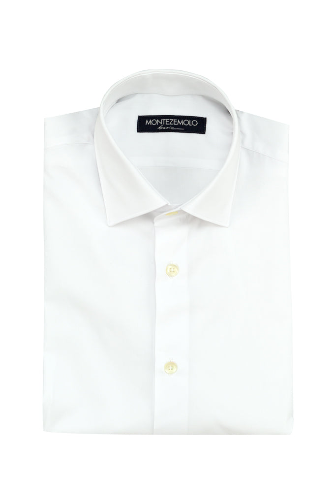MONTEZEMOLO - Shirts - Plain Cotton Shirt - MONTEZEMOLO