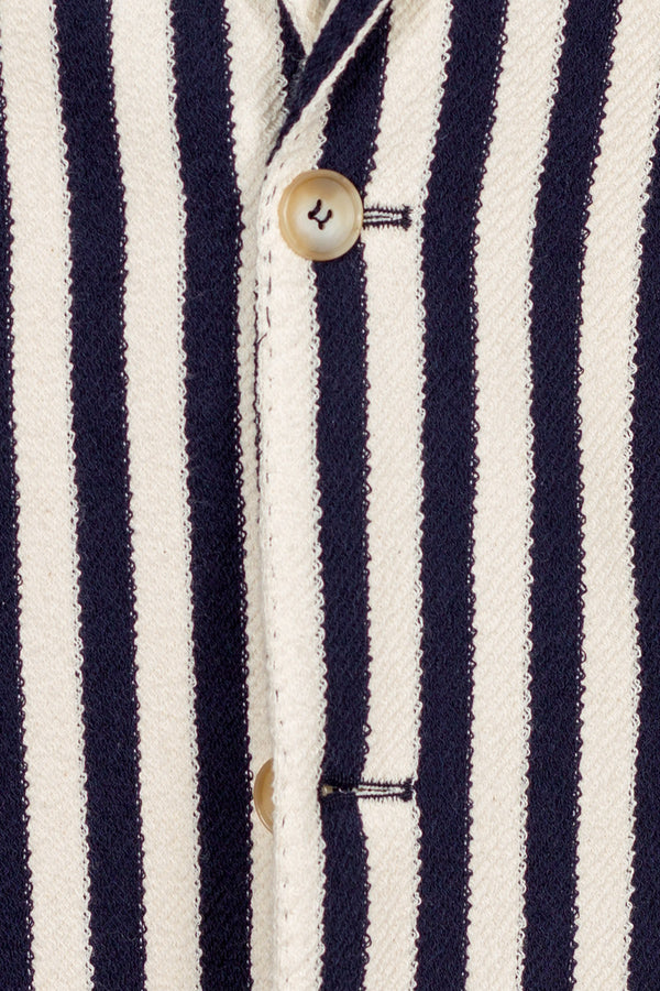 Striped Giro Inglese Cotton Jacket