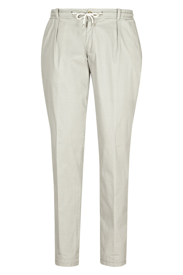 Stone-Washed Chino with Drawstring