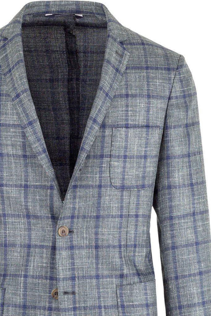 MONTEZEMOLO - Jackets - Checked Wool, Silk and Linen Jacket - MONTEZEMOLO