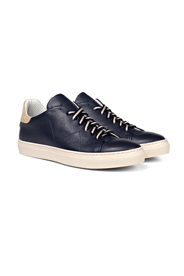 "Blue Leather Sneakers - ""band laces"""