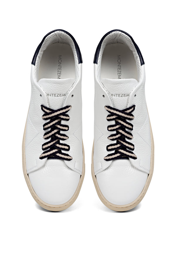 "White Leather Sneakers - ""band laces"""