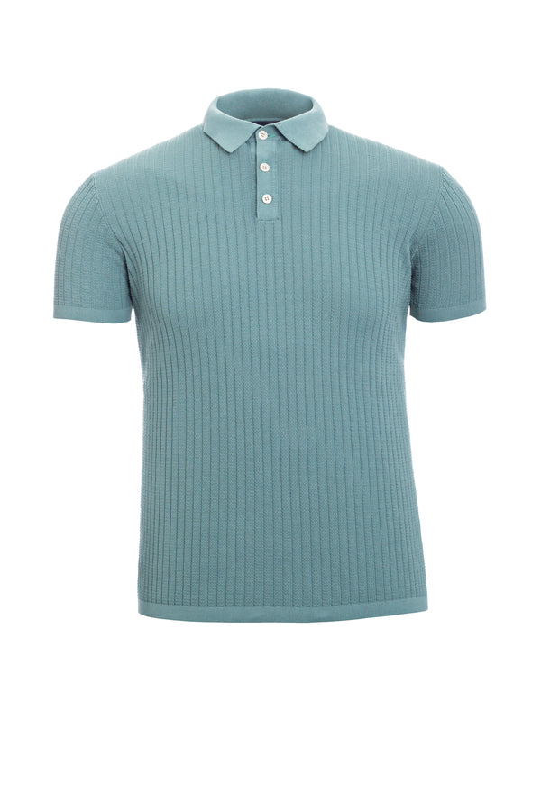 RIB KNIT COTTON POLO
