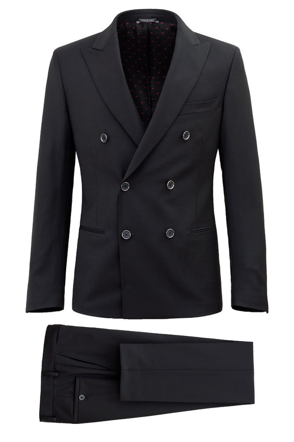Doublebreasted Virgin Wool Suit - MONTEZEMOLO