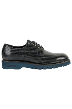 MONTEZEMOLO Men's Clothing - Lace Up Shoes - Textured Leather Derby Shoes - www.montezemolostore.com
