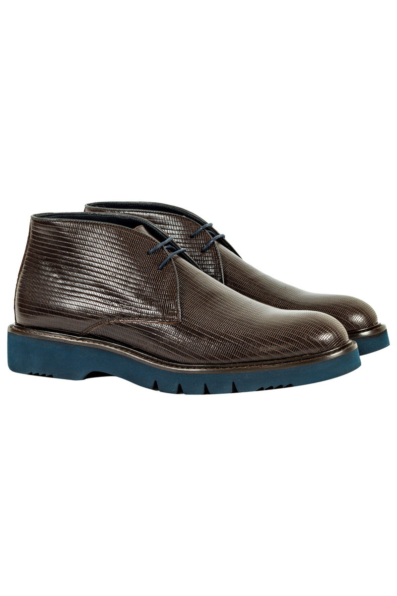 MONTEZEMOLO Men's Clothing - Boots - Textured Leather Ankle Boots - www.montezemolostore.com