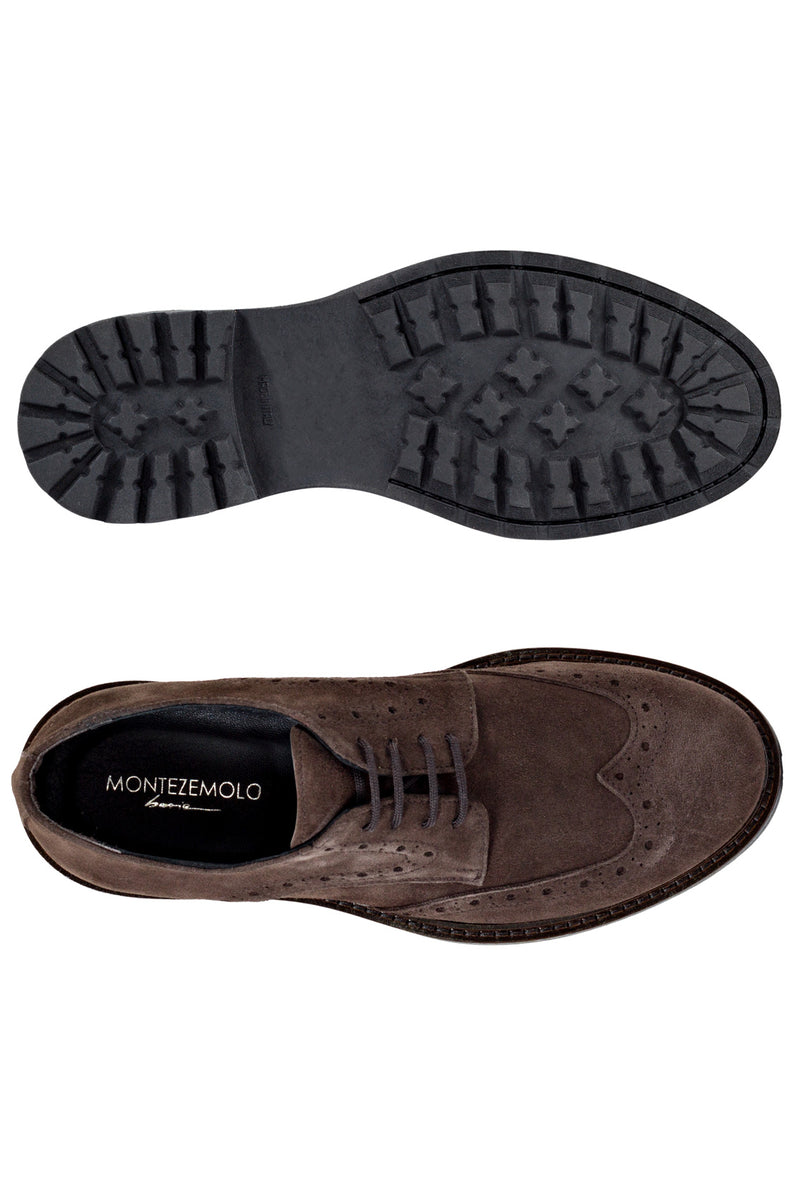 MONTEZEMOLO Men's Clothing - Lace Up Shoes - Suede Leather Derby - www.montezemolostore.com