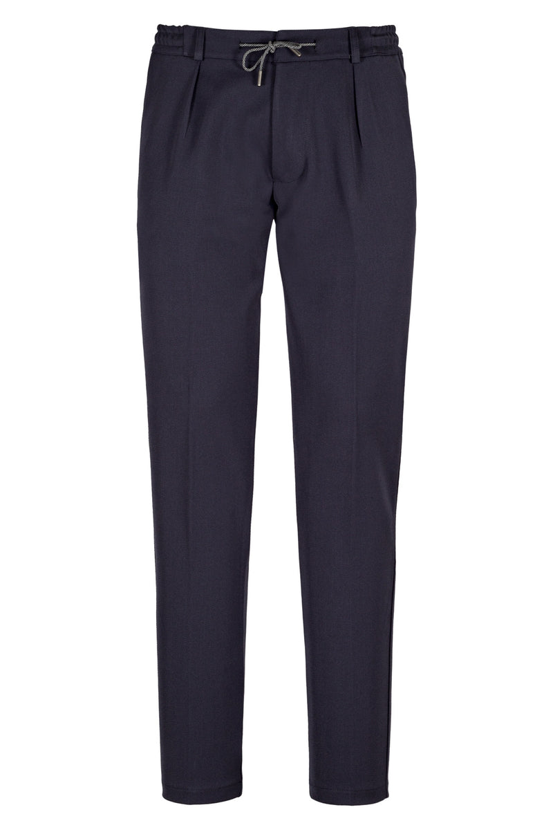 MONTEZEMOLO Men's Clothing - Trousers - Twill Jersey Chino With Drawstring - www.montezemolostore.com