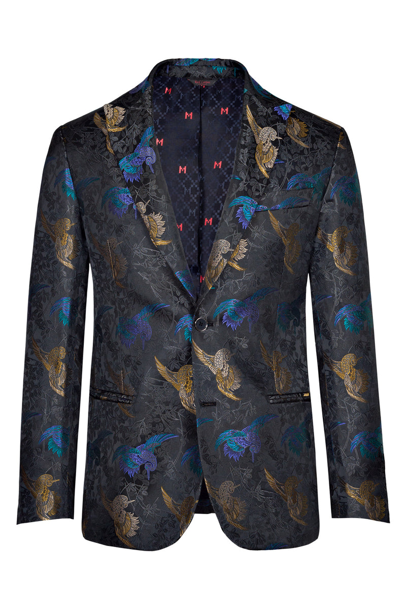 MONTEZEMOLO Men's Clothing - Jackets - Silkbird Brocade Red Carpet Jacket - www.montezemolostore.com