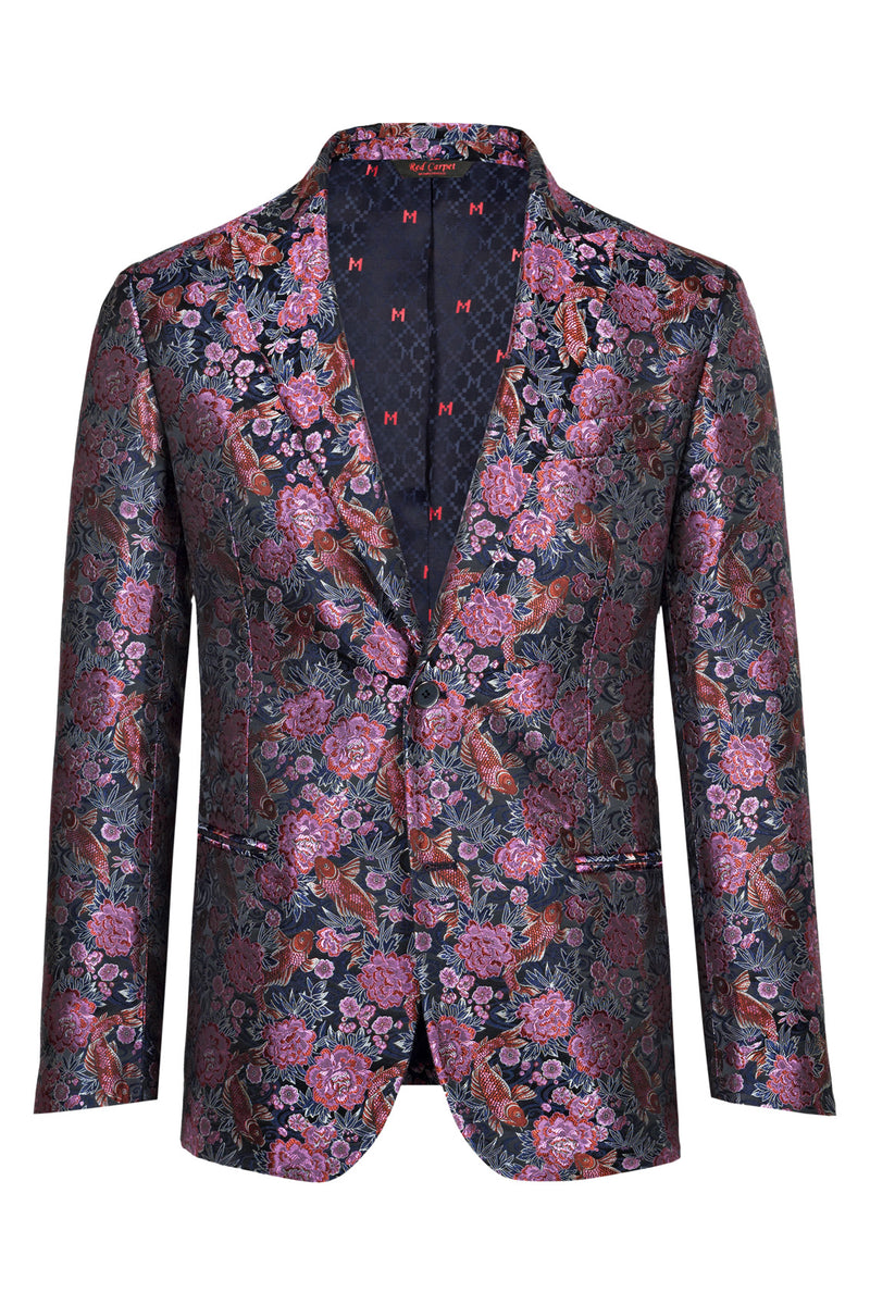MONTEZEMOLO Men's Clothing - Jackets - Floral Brocade Red Carpet Jacket - www.montezemolostore.com