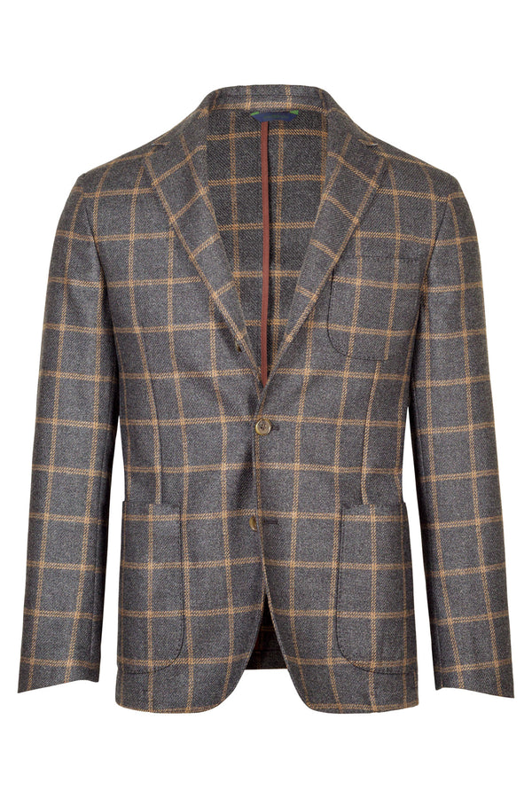 MONTEZEMOLO Men's Clothing - Jackets - Check Wool & Silk Jacket - www.montezemolostore.com