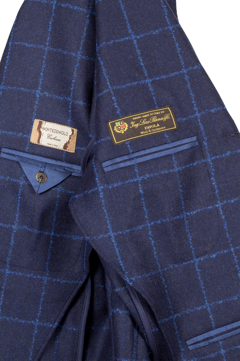 MONTEZEMOLO Men's Clothing - Jackets - Check Wool & Cashmere Jacket - www.montezemolostore.com