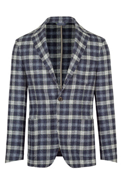 MONTEZEMOLO Men's Clothing - Jackets - Checked Virgin Wool & Silk Jacket - www.montezemolostore.com