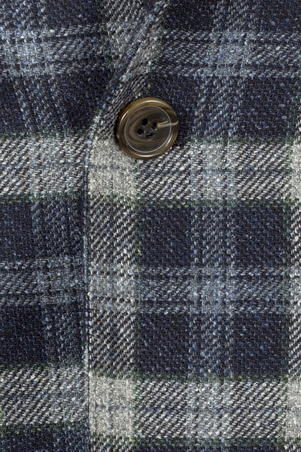 Checked Virgin Wool & Silk Jacket