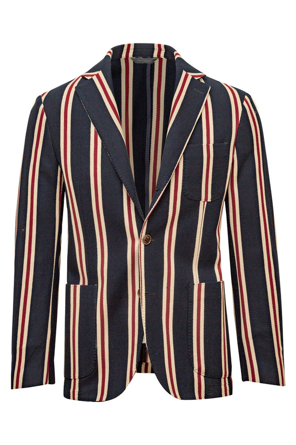 Striped Giro-Inglese Jersey Wave Cotton Jacket