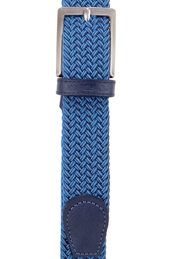 MONTEZEMOLO Men's Clothing - Belt - Woven Elastic & Leather Belt - www.montezemolostore.com