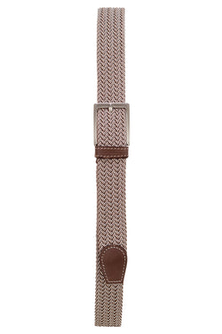 Woven Elastic & Leather Belt