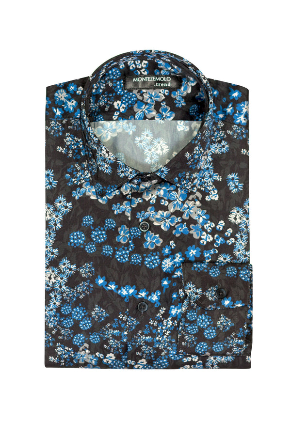 MONTEZEMOLO Men's Clothing - Shirts - All-Over Printed Shirt - www.montezemolostore.com