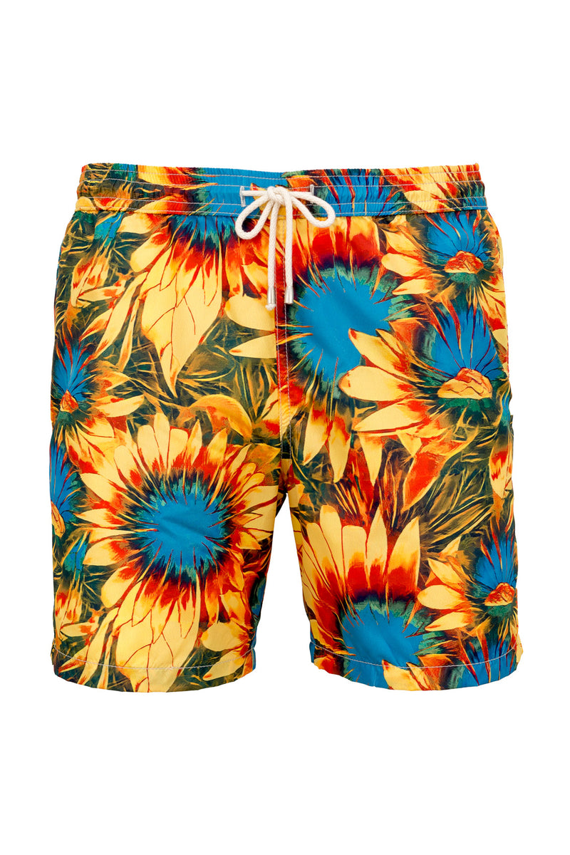 MONTEZEMOLO Men's Clothing - Swimshorts - Sunflower Swim Shorts - www.montezemolostore.com