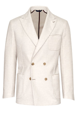 Wool-Silk & Linen Doublebreasted Jacket