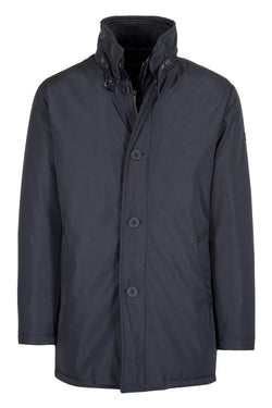 MONTEZEMOLO Men's Clothing - Outerwear - Blue Padded Overcoat - www.montezemolostore.com