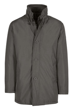 MONTEZEMOLO Men's Clothing - Outerwear - Grey Padded Overcoat - www.montezemolostore.com
